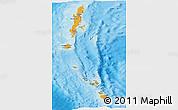 Political Panoramic Map of Andaman & Nicobar