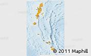 Political Shades Panoramic Map of Andaman & Nicobar, lighten
