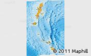 Political Shades Panoramic Map of Andaman & Nicobar, physical outside