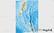 Political Shades Panoramic Map of Andaman & Nicobar