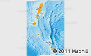 Political Shades Panoramic Map of Andaman & Nicobar, shaded relief outside