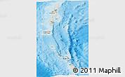 Shaded Relief Panoramic Map of Andaman & Nicobar