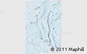 Silver Style Panoramic Map of Andaman & Nicobar