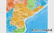 Political Shades 3D Map of Andhra Pradesh
