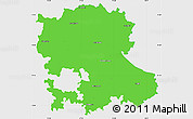 Political Simple Map of Anantapur, single color outside