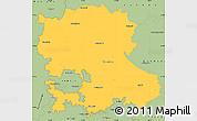 Savanna Style Simple Map of Anantapur
