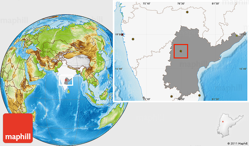 Physical location map of hyderabad highlighted country highlighted 2d gumiabroncs Choice Image
