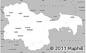 Gray Simple Map of Karimnagar
