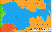 Political Simple Map of Karimnagar