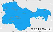 Political Simple Map of Karimnagar, single color outside