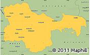 Savanna Style Simple Map of Karimnagar