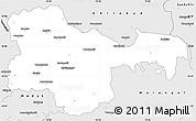 Silver Style Simple Map of Karimnagar