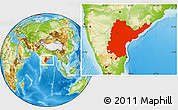 Physical Location Map of Andhra Pradesh