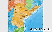 Political Shades Map of Andhra Pradesh