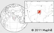 Blank Location Map of Nizamabad