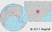Gray Location Map of Nizamabad