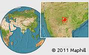 Satellite Location Map of Nizamabad