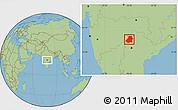 Savanna Style Location Map of Nizamabad