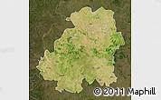Satellite Map of Nizamabad, darken