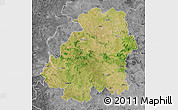 Satellite Map of Nizamabad, desaturated