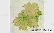 Satellite Map of Nizamabad, lighten