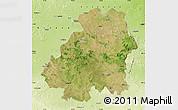 Satellite Map of Nizamabad, physical outside