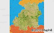 Satellite Map of Nizamabad, political outside