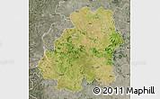 Satellite Map of Nizamabad, semi-desaturated