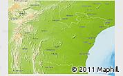 Physical 3D Map of Prakasam