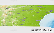 Physical Panoramic Map of Prakasam