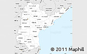Silver Style Simple Map of Andhra Pradesh