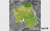 Satellite 3D Map of West Godavari, desaturated