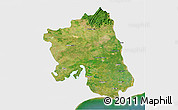 Satellite 3D Map of West Godavari, single color outside