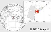 Blank Location Map of West Godavari, highlighted parent region