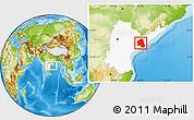 Physical Location Map of West Godavari, highlighted parent region