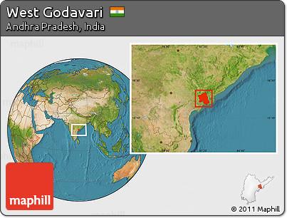 Satellite Location Map of West Godavari