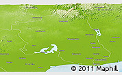 Physical Panoramic Map of West Godavari