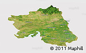 Satellite Panoramic Map of West Godavari, cropped outside