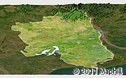 Satellite Panoramic Map of West Godavari, darken
