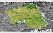 Satellite Panoramic Map of West Godavari, desaturated