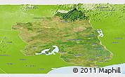Satellite Panoramic Map of West Godavari, physical outside
