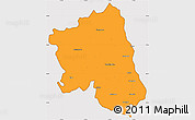 Political Simple Map of West Godavari, cropped outside