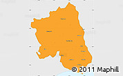 Political Simple Map of West Godavari, single color outside