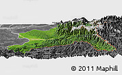 Satellite Panoramic Map of Changlang, desaturated