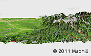 Satellite Panoramic Map of Changlang