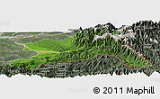 Satellite Panoramic Map of Changlang, semi-desaturated