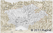 Classic Style Panoramic Map of Dibang Valley (Anni)