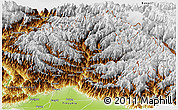 Physical Panoramic Map of Dibang Valley (Anni)