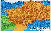 Political Panoramic Map of Dibang Valley (Anni)
