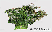 Satellite Panoramic Map of Dibang Valley (Anni), cropped outside